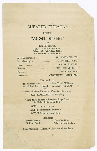 Image for Cast list for the Shearer Players' production of Angel Street