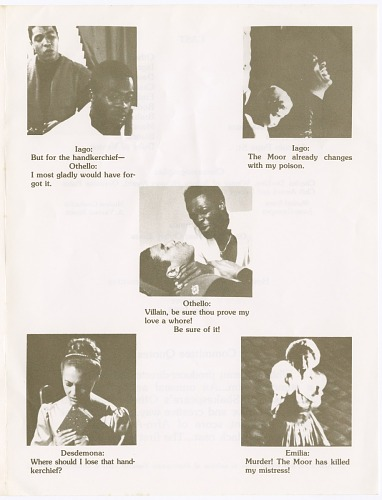 Image for Program for Liz White's presentation of Othello