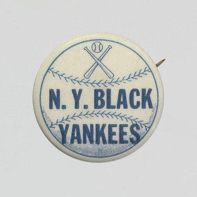 Pinback button for the New York Black Yankees