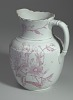 Thumbnail for White and pink pitcher and washbowl owned by members of the Ellis family