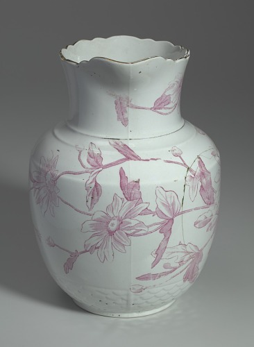 Image for White and pink pitcher and washbowl owned by members of the Ellis family