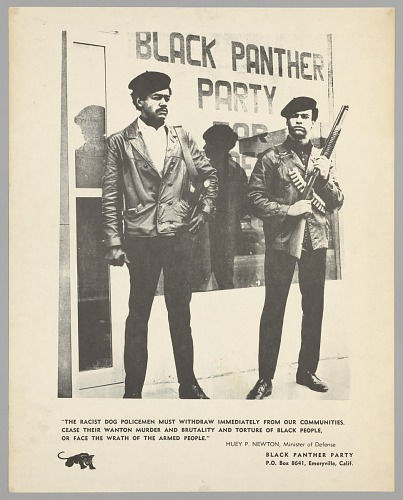 Image for Black and white poster of Huey Newton and Bobby Seale