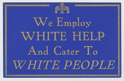Sign from a segregated restaurant