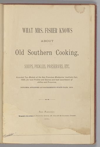 Image for What Mrs. Fisher Knows About Old Southern Cooking