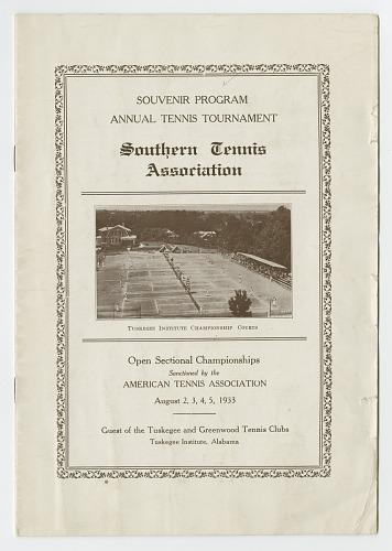 Image for Souvenir Program for the Southern Tennis Association Annual Tournament