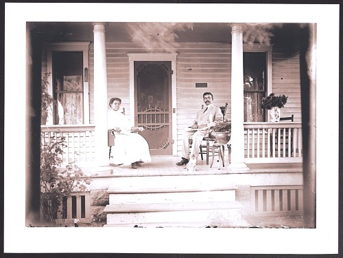 Image for Print of a man and woman sitting on a porch