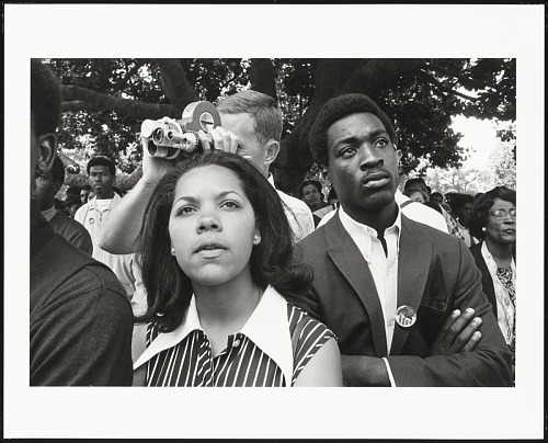 Image for Couple listening at Free Huey Rally, De Fremery Park, Oakland, CA, No. 15