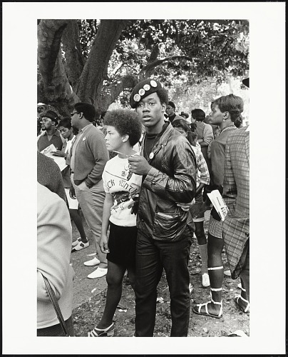 Image for Black Panther couple listening, Free Huey Rally, De Fremery Park, Oakland, CA, No. 20