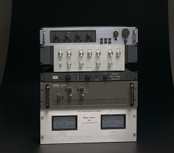Amplifier used as part of a DJ setup