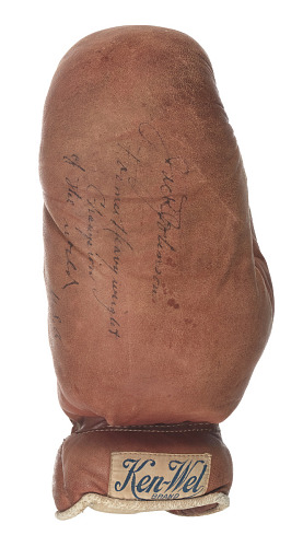 Image for Boxing glove signed by Jack Johnson