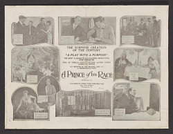 Advertisement for A Prince of His Race