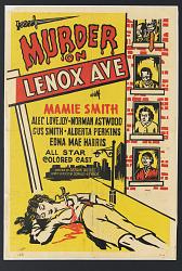 Poster for Murder on Lenox Ave.