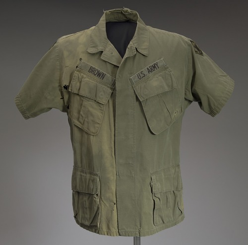 Image for Military fatigue shirt worn by James E. Brown of the 20th Engineer Brigade