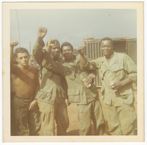 Image for Photograph of four American soldiers in Vietnam