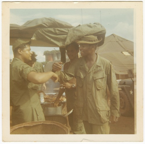 Image for Photograph of American soldiers at a mess tent in Vietnam