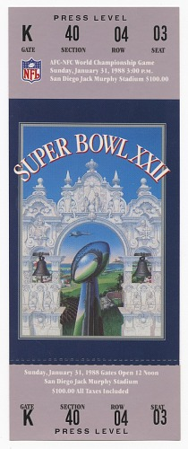 Image for Ticket to Super Bowl XXII