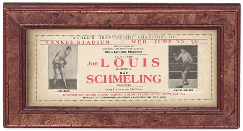 Image for Advertisement for boxing match between Joe Louis and Max Schmeling
