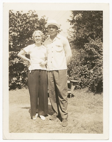 Image for Photographic print of Joe Louis with unidentified woman
