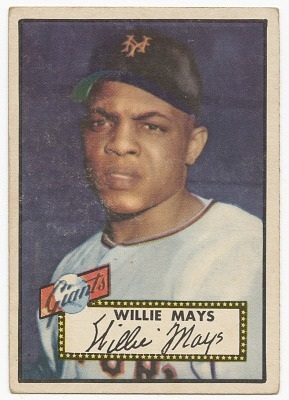 Baseball card for Willie Mays