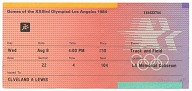 Image for Pair of 1984 Summer Olympics track and field event tickets owned by Carl Lewis