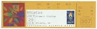 Image for Paper ticket for the 1996 Summer Olympics owned by Carl Lewis