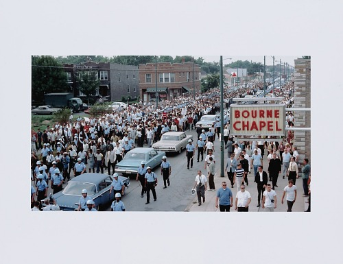 Image for Digital print of a Chicago Freedom Movement march down South Kedzie Avenue