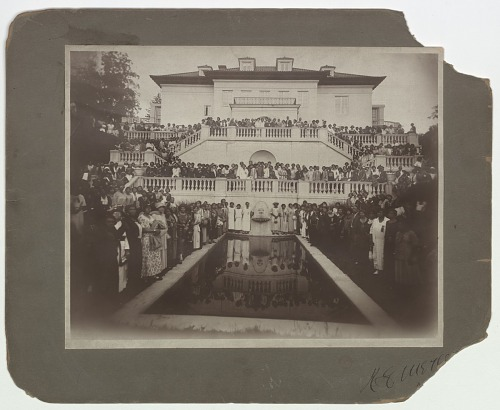 Image for Photograph of a convention of Madam C.J. Walker agents at Villa Lewaro