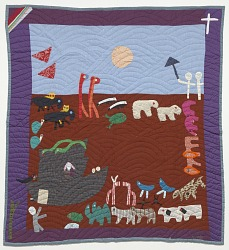 Noah's Ark applique quilt made by Yvonne Wells