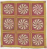 Thumbnail for Pink and yellow pinwheel quilt made by Elizabeth Salter Smith