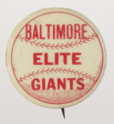 Pinback button for the Baltimore Elite Giants
