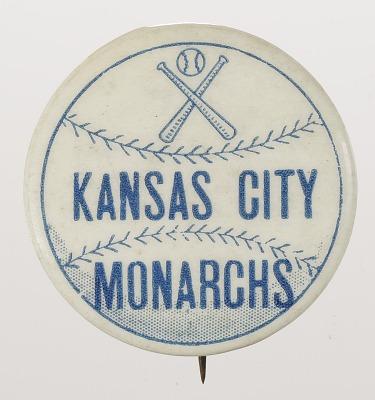 Pinback button for the Kansas City Monarchs