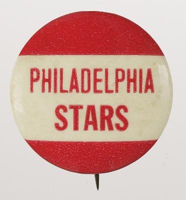 Pinback button for the Philadelphia Stars