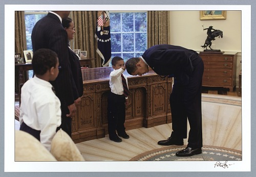 Image for Jacob Philadelphia checks out President Obama's hair in May 2009