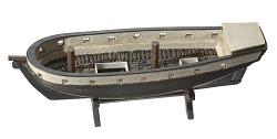 Folk art model of a slave ship on stand