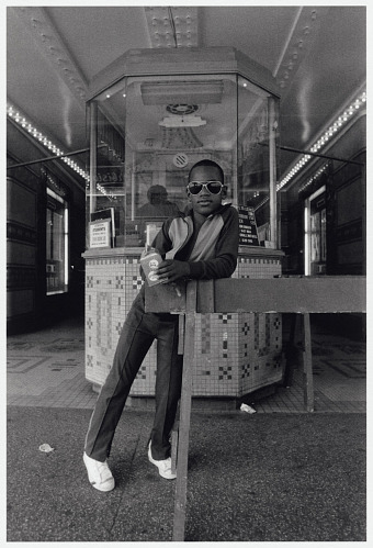 Image for A Boy in Front of the Loews 125th Street Movie Theater