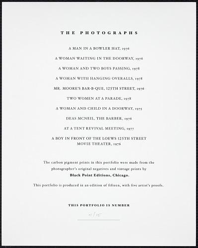 Image for Harlem, USA print list