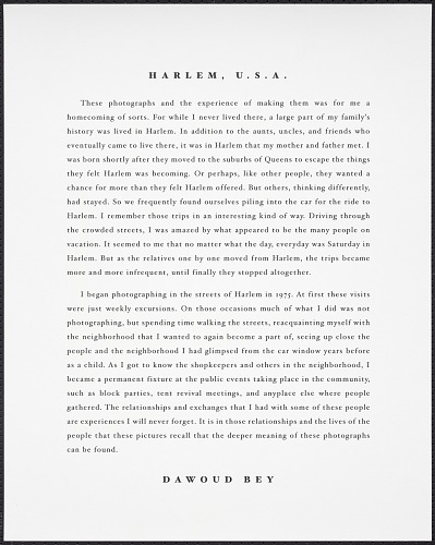 Image for Statement page for Harlem, USA portfolio