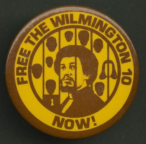 Image for Pinback button protesting the imprisonment of the Wilmington 10