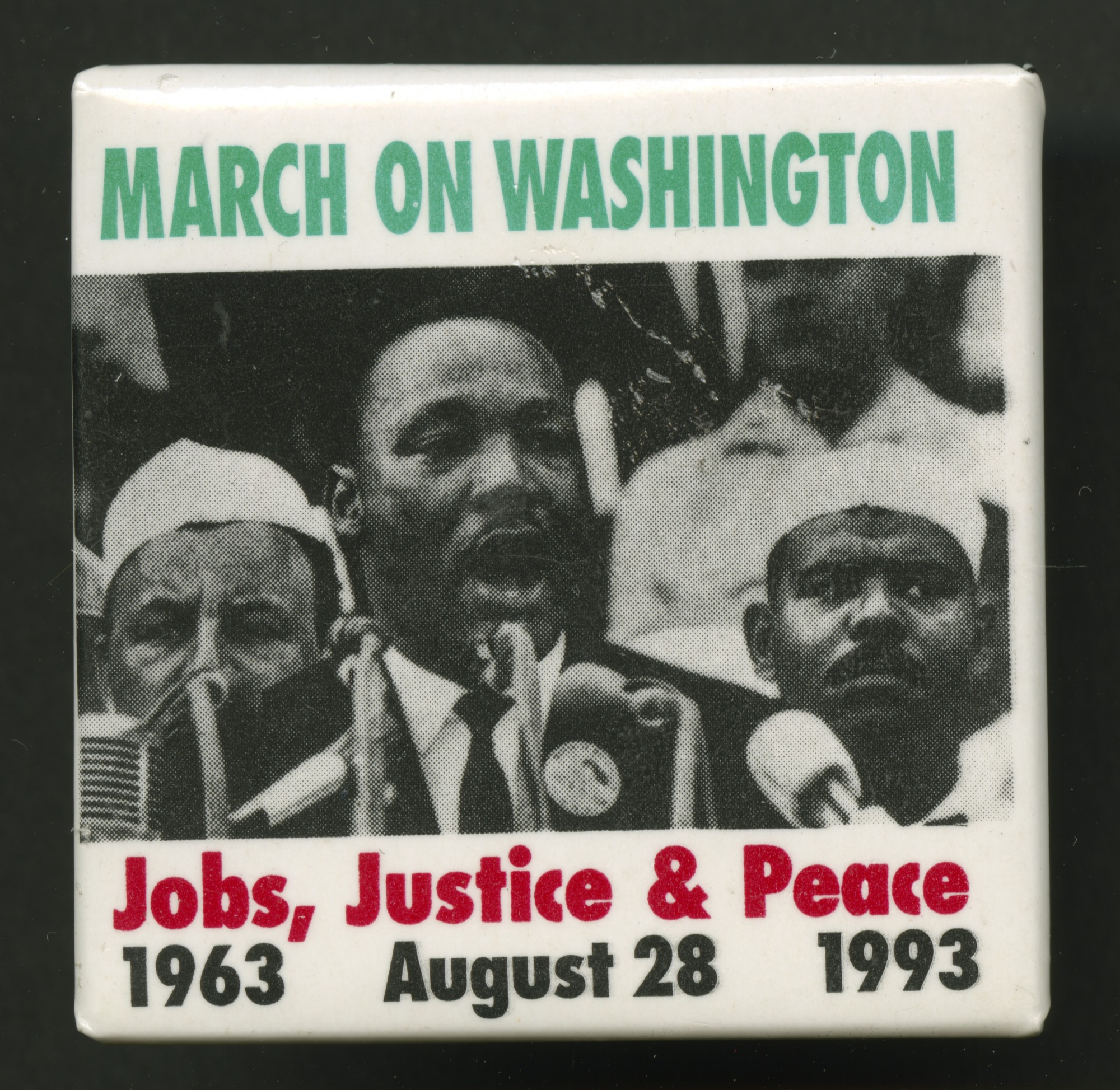 images for Pinback button commemorating the March on Washington
