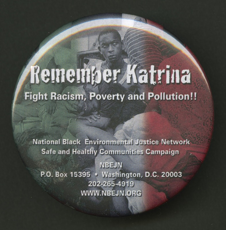 Image for Pinback button in remembrance of Hurricane Katrina victims