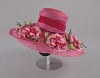 images for Pink mushroom hat with flowers from Mae's Millinery Shop-thumbnail 2