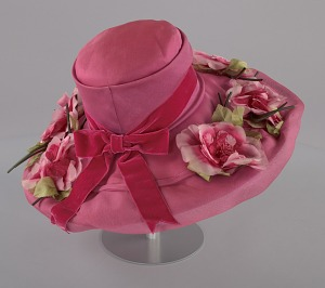 images for Pink mushroom hat with flowers from Mae's Millinery Shop-thumbnail 6
