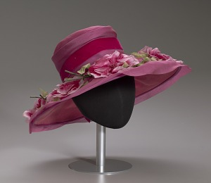 images for Pink mushroom hat with flowers from Mae's Millinery Shop-thumbnail 9
