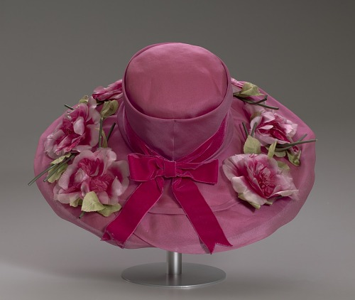 Image for Pink mushroom hat with flowers from Mae's Millinery Shop