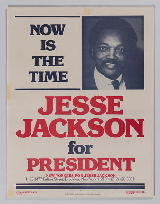 Presidential campaign poster for Jesse Jackson