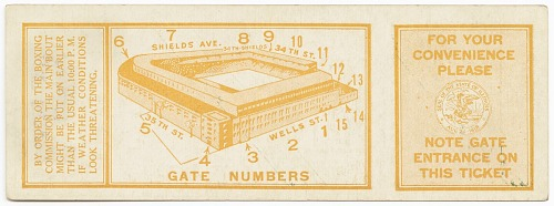 Image for Ticket to a championship boxing match between Joe Louis and Jim Braddock
