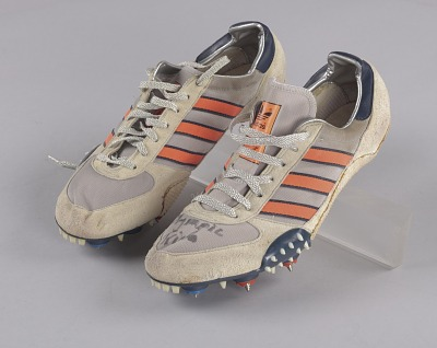 Track shoes worn by Jackie Joyner-Kersee at the 1984 Olympic trials