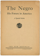 The Negro: His Future in America