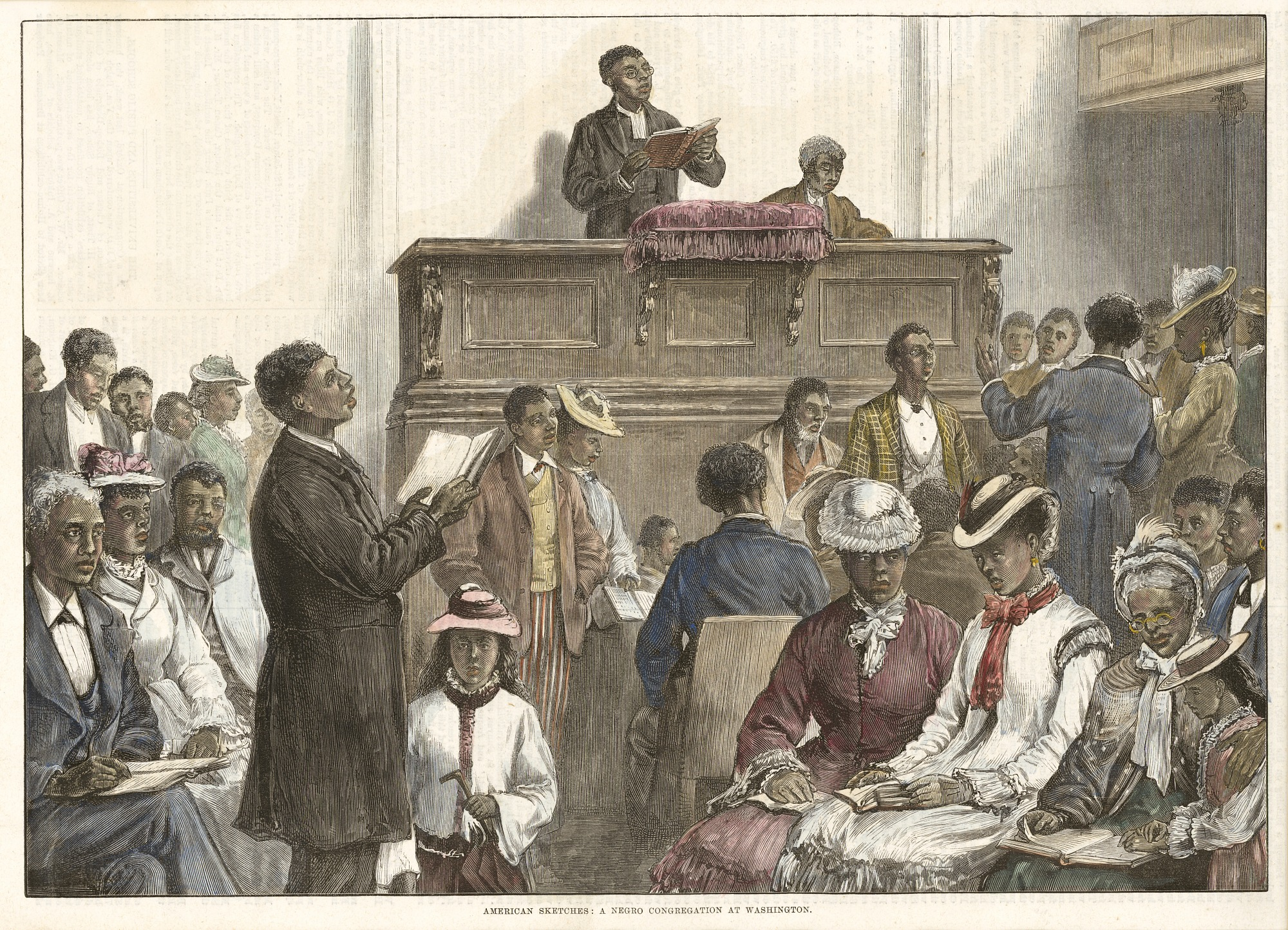 American Sketches: A Negro Congregation at Washington