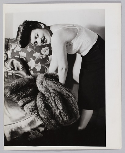 Image for Photograph of a woman, Jean, with a fur coat